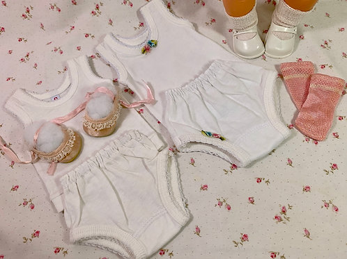 "15"" Plain and Fancy Socks and Underwear Sets for Tiny Tears Dy-Dee"