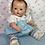 """Thumbnail: Vintage 1950's Blue Sunsuit Sun Suit Set for 13.5"""" Tiny Tears Baby"""