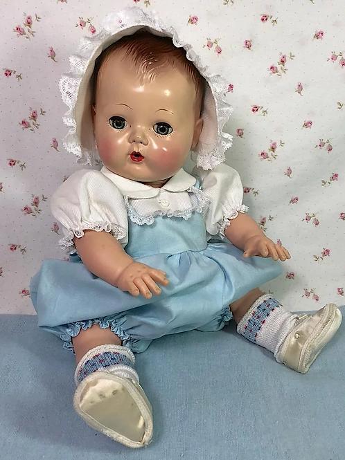 """#2 Vintage 1950's Blue Sunsuit Sun Suit Set for 13.5"""" Tiny Tears Baby"""