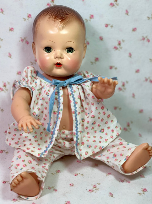 """Vintage Roses Print Pajamas for 13"""" to 14"""" Tiny Tears / Betsy Wet"""