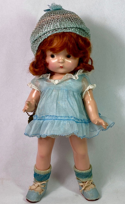 """1930s Effanbee 11"""" Patsy Jr RED HEAD Composition Doll All Original"""