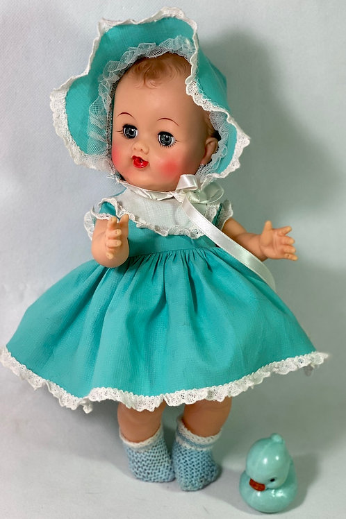 """Mid- 1950's Ideal Toy Co 12"""" BETSY WETSY Doll -- All Original"""