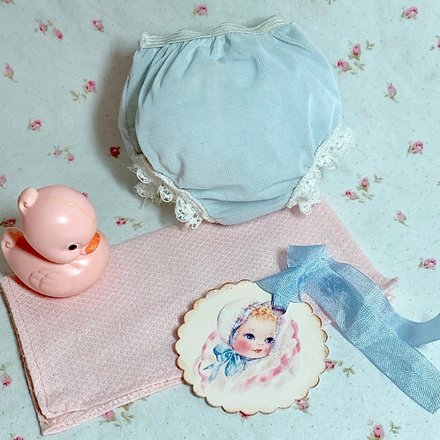 "Vintage 1950's RUBBER PANTS and Small Pink Diaper Dy-Dee Tiny Tears 11"" to 12"""