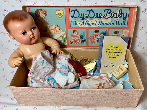 "Vintage NEAR MINT 15"" Dy-Dee Doll - MOLD 2 w/ Original Layette in Box"