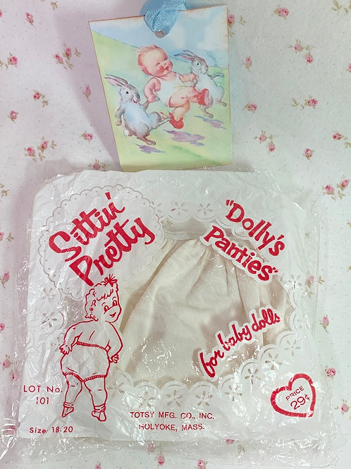 "Vintage Sittin' Pretty Dolly Panties New Old-Store-Stock for 13"" to 15"""