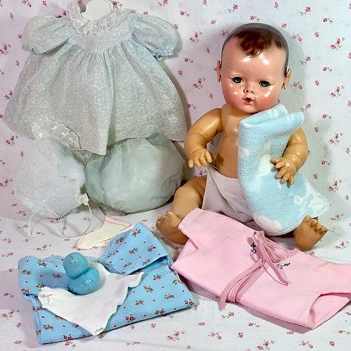"RARE Effanbee Vintage 15"" Dy-Dee Jane Mold 2 Doll w/ Layette"