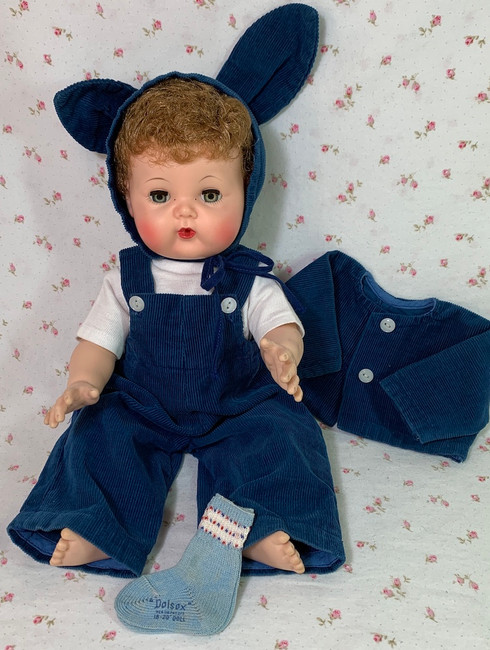 "1950's Vintage Corduroy BUNNY Suit for 15"" to 16"" Dolls"