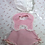 "Thumbnail: Fresh Pink Gingham Sun Suit and Bonnet for 20"" Dy-Dee Lou"
