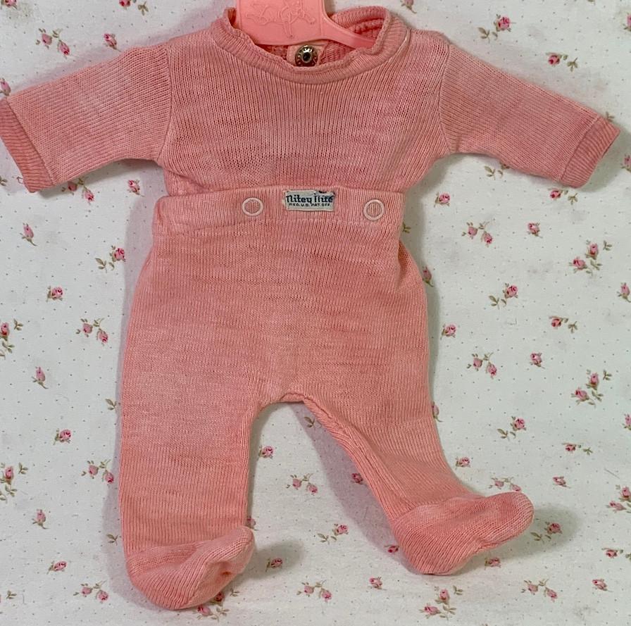 "RARE Vintage Dark Pink Nitey Nite Footed Pajamas for 13"" to 14"" Tiny Tears Doll"