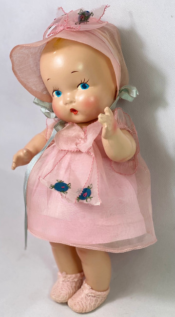"""Gorgeous Painted Eye * Harriet Flanders 1937 Compo 11"""" LITTLE CHERUB in Pink"""