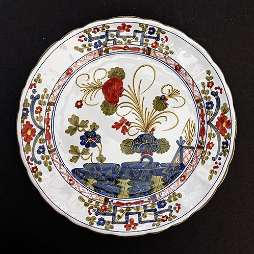 """MO.22 – Piatto """"cinese"""" in ceramica, Faenza, Italia, ø cm 25"""