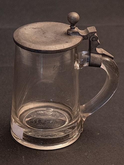 MO.16 – Boccale da birra in vetro e peltro cm 14,5