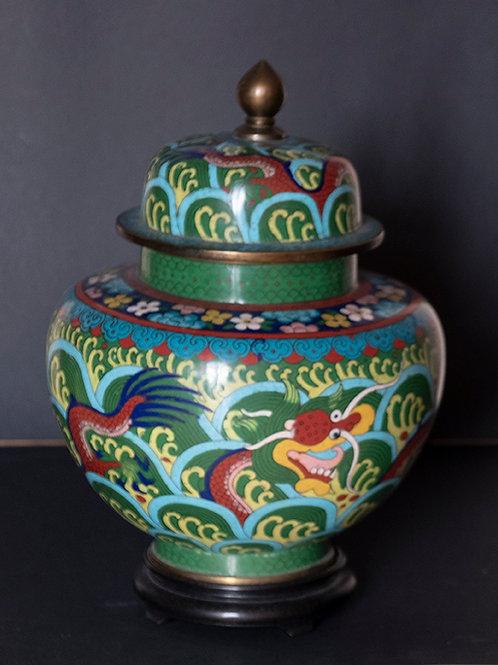 AO.03 – Vaso cinese in metallo decorato, sec. XIX