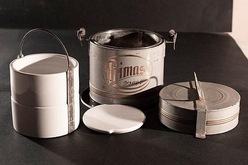 MO.05 – Marmitta in metallo e porcellana Villeroy & Boch, Germania fine '800