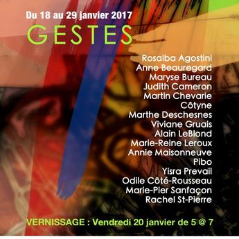 2017 commence avec une exposition collective à la galerie d'art L'espace contemporain !