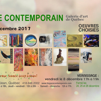 L'exposition collective oeuvres choisies!