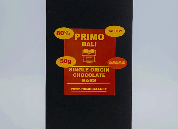 PRIMO Cashew 80% Dark Chocolate Bar (50gr)