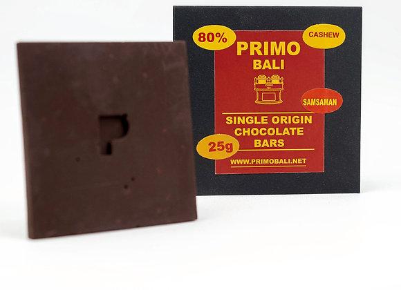 PRIMO Cashew 80% Dark Chocolate Bar (25gr)