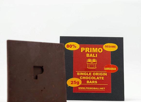PRIMO Sesame 80% Dark Chocolate Bar (25gr)