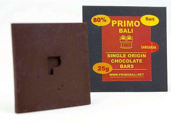 PRIMO Salted 80% Dark Chocolate Bar (25gr)