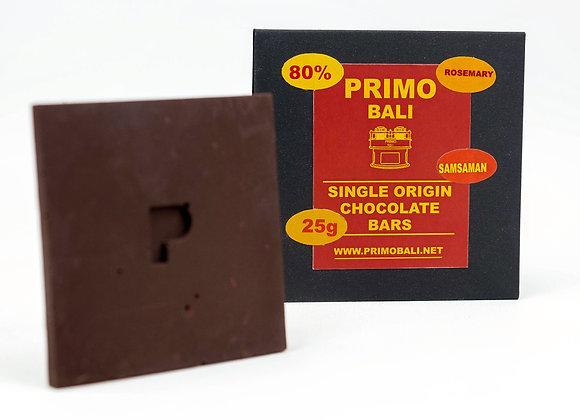 PRIMO Rosemary 80% Chocolate Bar (25gr)
