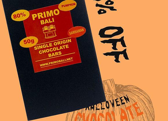 PRIMO Pumpkin Seed 80% Dark Chocolate Bar (50gr)