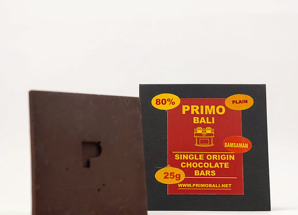 PRIMO 80% Dark Chocolate Bar (25gr)