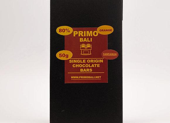 PRIMO Orange 80% Dark Chocolate Bar (50gr)