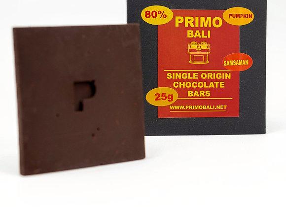 PRIMO Pumpkin Seed 80%  Dark Chocolate Bar (25gr)
