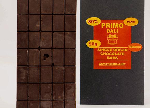 PRIMO 80% Dark Chocolate Bar (50gr)