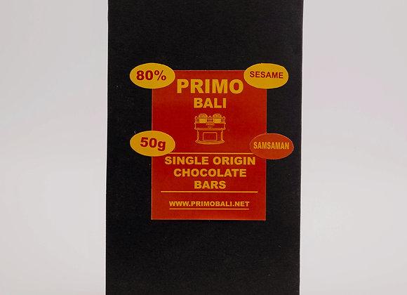 PRIMO Sesame 80% Dark Chocolate Bar (50gr)