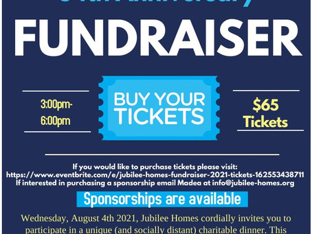 Jubilee Homes Fundraiser
