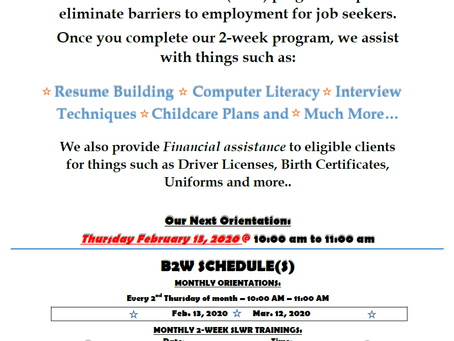 The Build to Work Program can help!