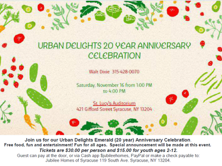 Urban Delights 20 year celebration!