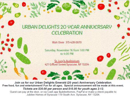 Urban Delights 20 year celebration!