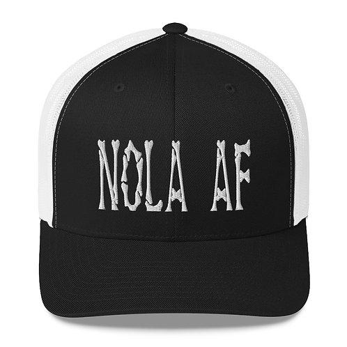 NOLA AF Retro Bones Trucker Cap