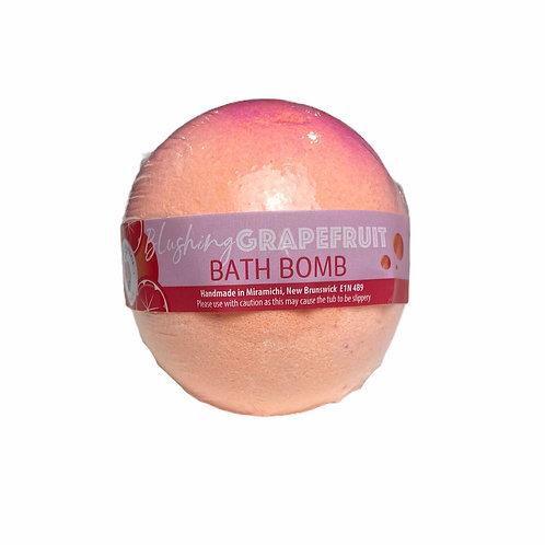 Blushing grapefruit bath bomb