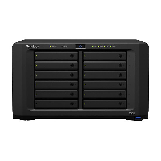 Synology 12-bay FlashStation, Dual Core 2.2 GHz (base) / 2.6 (turbo) GHz, 8GB DD
