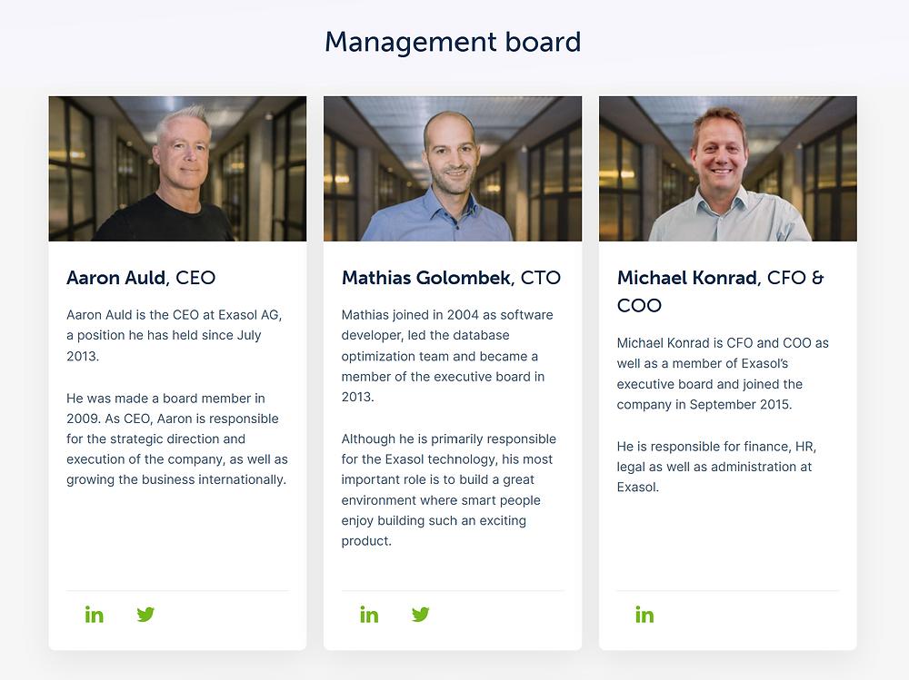 Exasol Management Team