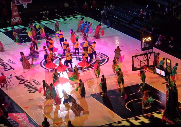 Bollywood dance at Atlanta Hawks Game