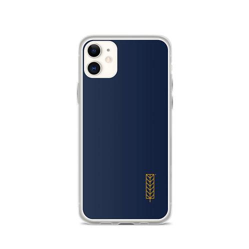 iPhone Case - Dark Blue, Logo Leaf Right
