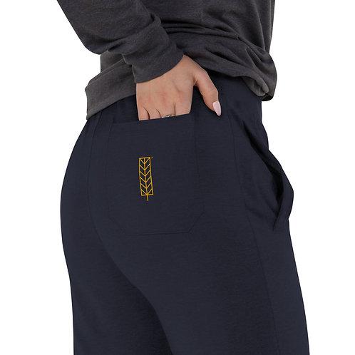 Women's slim fit joggers. - Leaf Logo