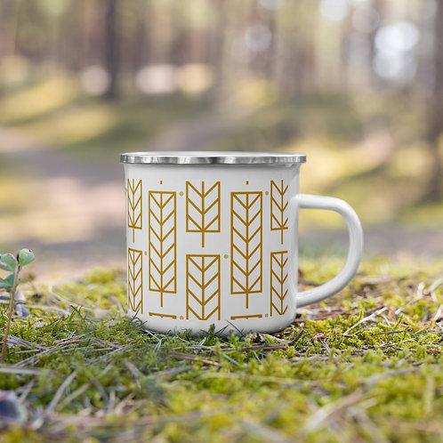 NYFA Crew Enamel Mug - Pattern Leaf