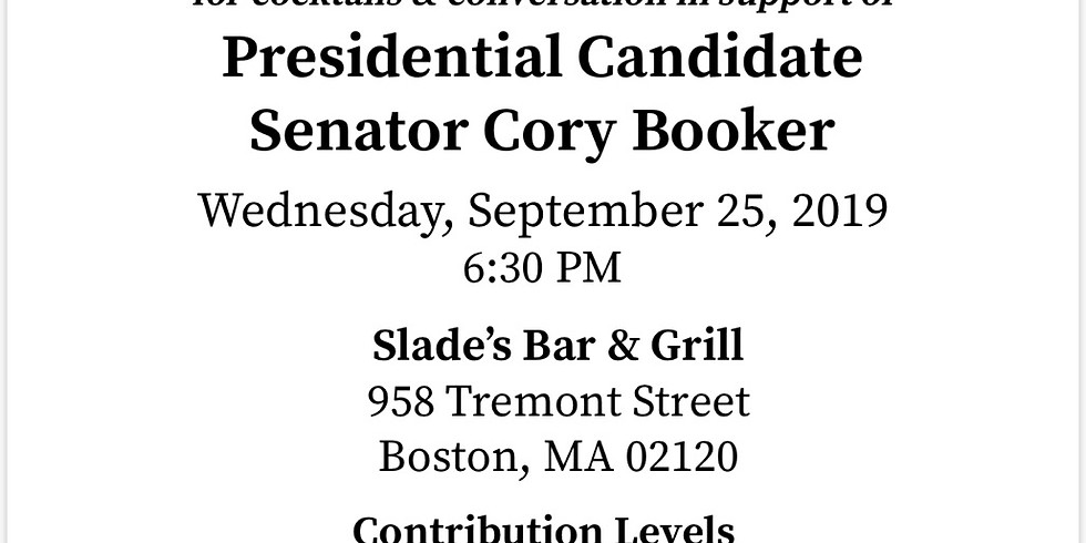 Cocktails & Conversation in support of presidential candidate - Senator Cory Booker