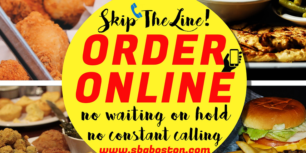 SKIP THE LINE - ORDER ONLINE! Takeout or Delivery!