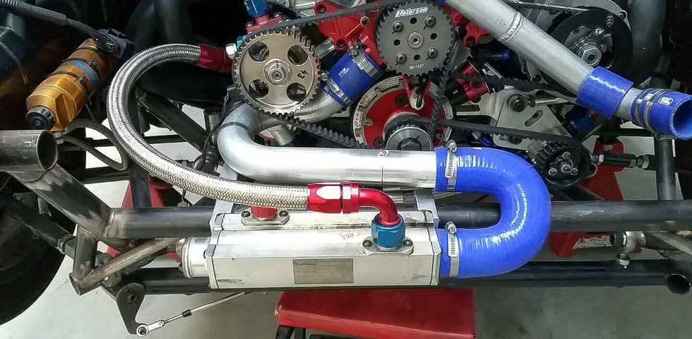 Plumbing up the cooling system - Ford Focus V8