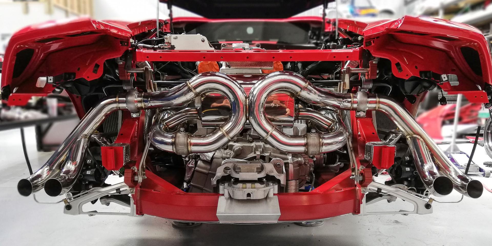 Installation of FIExhaust on 2019 Lamborghini Huracan
