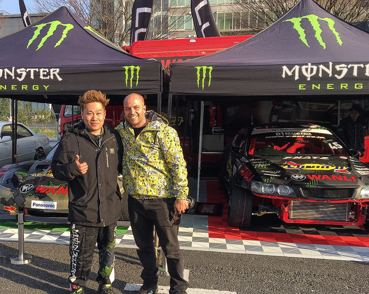 Daigo Saito D1GP - Japan- Assist in the new setup and running Fat Five Racings V8 Corvetter drift car.
