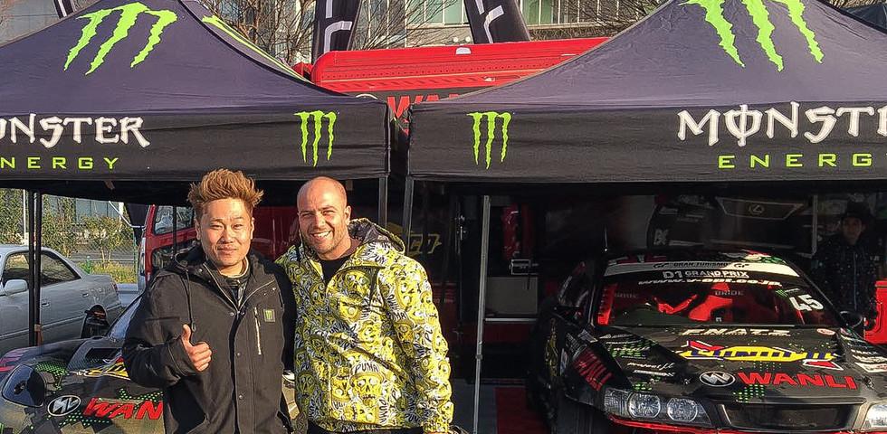 Daigo Saito D1GP - Japan- Assist in the new setup and running Fat Five Racings V8 Corvetter drift car.