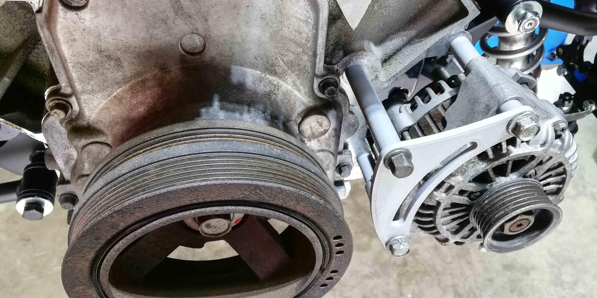 Design and 3D print alternator bracket prototype.